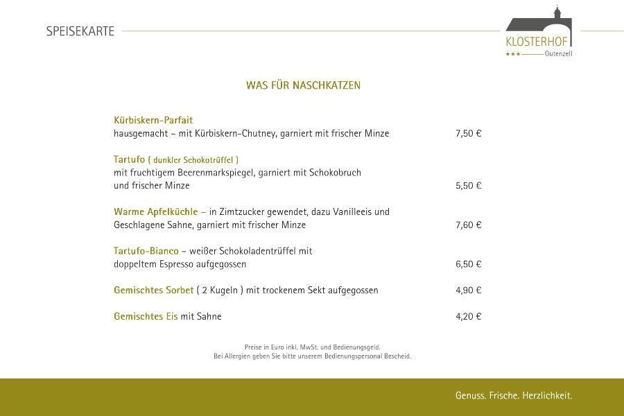 Dessertkarte - Klosterhof Gutenzell - 900x600